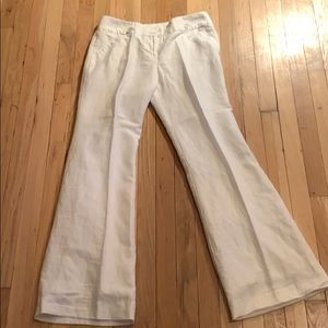 Limited Brand white linen pants